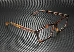 GUCCI 0384 Havana Gold Square Men Eyeglasses 57mm GG0384O Op