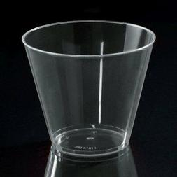 10 hard PLASTIC PARTY CUPS 9ounce Clear Tumblers cocktail sh