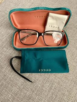 100% Authentic GUCCI Unisex Eyeglasses GG0019O Havana 002 56