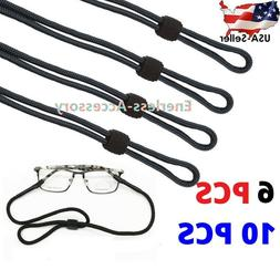 2/6/10PCS Neck Strap Sport Sunglass Eyeglass Read Glasses Co