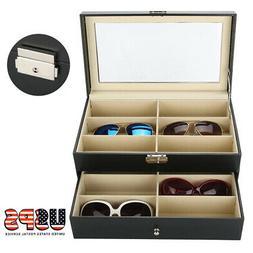 2 Layer Eye Glasses Case Eyewear Sunglasses Display Storage