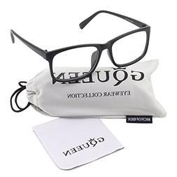 Glasses Queen 201512 Casual Fashion Rectangular Frame Clear