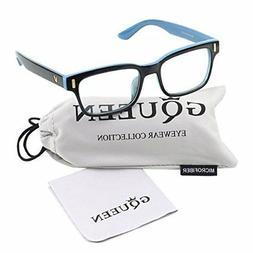 Glasses Queen 201584 Modern Fashion Rectangular Bold Thick F