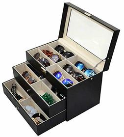 ADTL 3 Layer 18 Slots Eyeglass Sunglass Storage Box Display