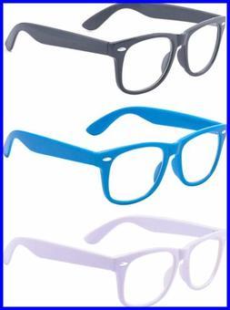 Outray 3 Pack Kids Children Nerd Retro Clear Lens Eye Glasse