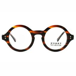 Agstum 40mm ~ 61mm HANDMADE Vintage Round Glasses Optical Ey