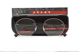 PRADA 52I DG0 Rimless Round Brand New Authentic Eyeglasses 5