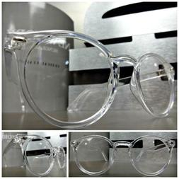 CLASSIC VINTAGE 50s RETRO Style Clear Lens EYE GLASSES Trans