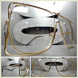 CLASSIC VINTAGE 70s RETRO Style Clear Lens EYE GLASSES Squar