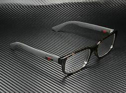 Gucci GG0012O 002 Eyeglasses Havana Brown Matte Black Frame