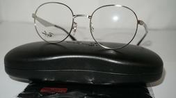 Ray Ban NWT RX 6343 2595 Silver Round 47mm RX Eyeglasses RX6