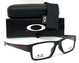 Oakley Airdrop MNP OX8121-0353  eyeglass frame Black w/ Red