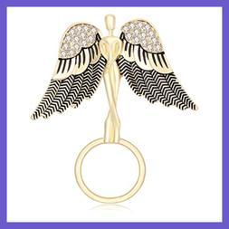 angel spread the wings w rhinestone guardian