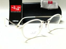 Authentic RAY BAN RX7073 5618 LightRay White 47/21/140 Round