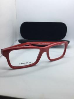 Burberry B 2187 3364 Women's Red Rectangular Eyeglasses Fram