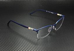 Burberry BE1323 1261 Matte Blue Demo Lens Men Rectangle Eyeg
