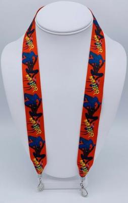Blue & Red Spider Man face mask lanyard chain Mask holder