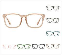 TIJN, Blue Light Blocking Glasses Square Nerd Eyeglasses Fra
