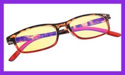 Blue Light Shield For Women YELLOW Tinted Lens Eyeglasses RE