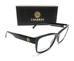 Brand New VERSACE Eyeglass Frames 3266 GB1 Black For Men Wom