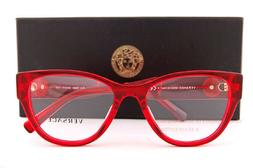 Brand New VERSACE Eyeglass Frames 3281B 5323 Red Crystal for