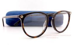 Brand New GUCCI Eyeglass Frames GG 0027/OA 002 Havana Men Wo