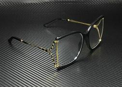 Brand New GUCCI Eyeglass Frames GG 0592/O  001 Black/Gold Fo