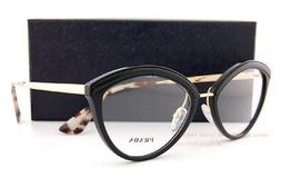 Brand New Prada Eyeglasses Frames 14U 14UV KUI Black/Gold SZ