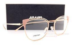 Brand New Prada Eyeglasses Frames 62U 62UV YEP Beige/RoseGol