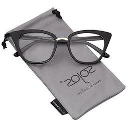 SOJOS Cat Eye Brand Designer Clear Lens Glasses Fashion Eyew