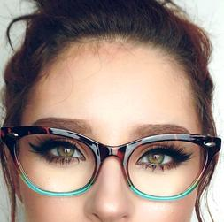 "Cat Eye  ""Ombre"" Women Eyeglasses Tortoise Two Tone Gradient"
