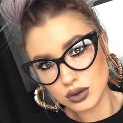 Cat Eye Retro Eyeglasses Plastic Frame Clear Lens Women Desi