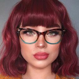 "Cat Eye Vintage Retro ""Ombre""  Women Eyeglasses Blue Green B"