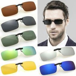 Chic Sunglasses Clip-On Flip-up Driving Glasses Day Night Vi