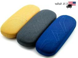 Clam Shell Hard Case for Eyeglasses - Chose Fabric Color: Ma