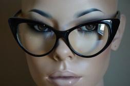 Fashion Design Clear Lens Black Cat Eye Frame Women Eyeglass