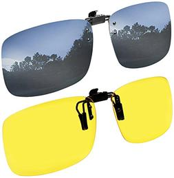 Clip on Sunglasses Polarized Flip Up Clip onto prescription