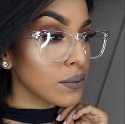 """CRYSTAL SEE TROUGH Square Clear Frames  """"Kylie"""" Clear  Women"""