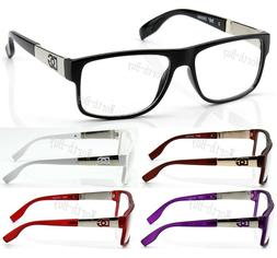 new men women clear lens eye glasses