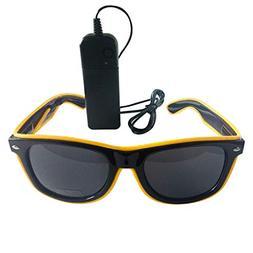 El LED Club Party Light Up Glasses Eyeglasses Bright Flashin