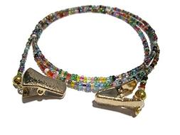 Eyeglass Chain for Women | Beaded 32 Colors Gold Clip | Glas