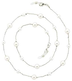 Eyeglass Chain Holder, Silver Lanyard Necklace, Paloma
