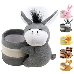 Eyeglass Holder Glasses Stand with Cute Plush Animal Charact