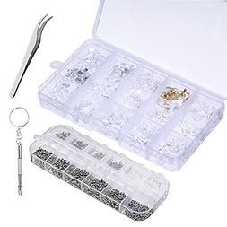 Trasfit Eyeglass Repair Kit, 1100 Pcs Assorted Tiny Screws N