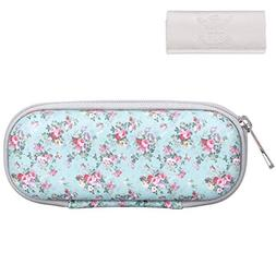 Skycase Eyeglasses Case Holder for Women, Floral 27, Small S