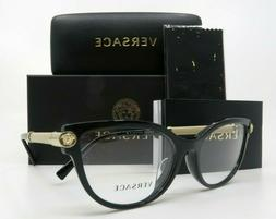 Versace Eyeglasses Cat-Eye VE3270QA 5299 54mm Black / Gold
