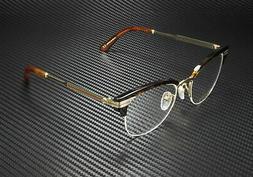 Gucci Eyeglasses GG0201O GG/0201/O 002 Havana/Gold Half Rim