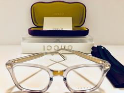 Gucci Eyeglasses GG184O 005 Women's Transparent w/ Gold Fram