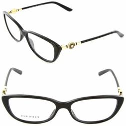 VERSACE Eyeglasses VE 3206 GB1 54mm Black / Demo Lens