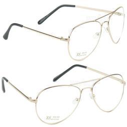 Fashion Aviator Mens Womens Clear Eyeglasses Metal Frame Ros